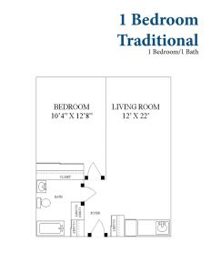 1 Bedroom Traditional