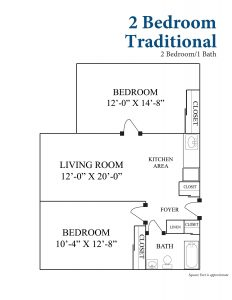 2 Bedroom Traditional