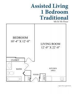 Assisted 1 Bedroom Traditional